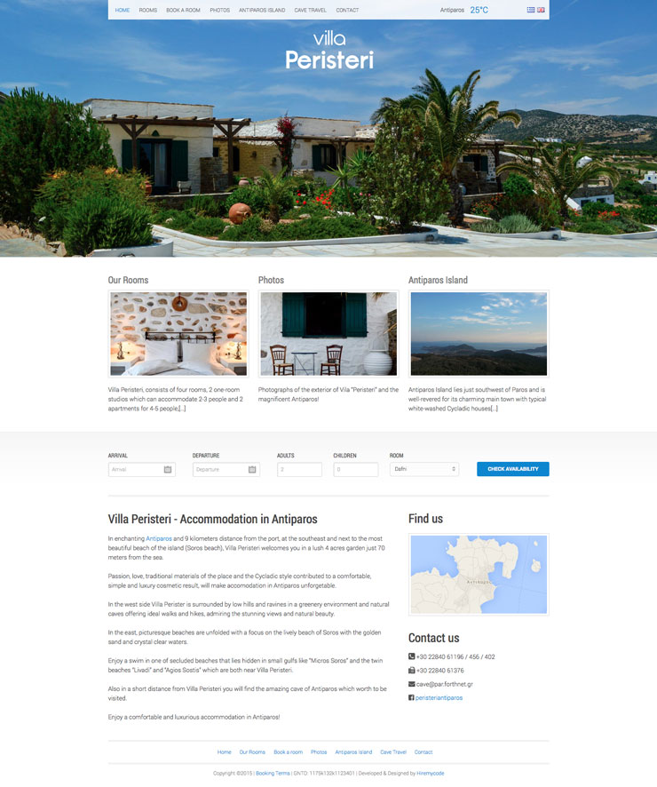 Villa Peristeri - Accommodation in Antiparos