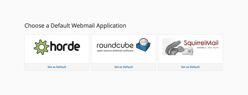 Επιλογή webmail client